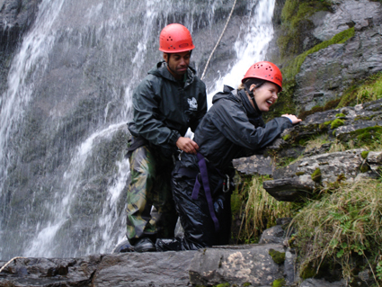 Gorge Walking with a Hen Party in Wales