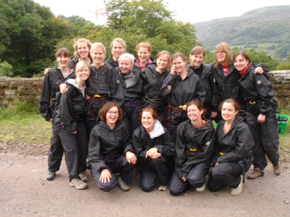 Hen Party Gorge Scrambling in Wales - Dinas gorge walk